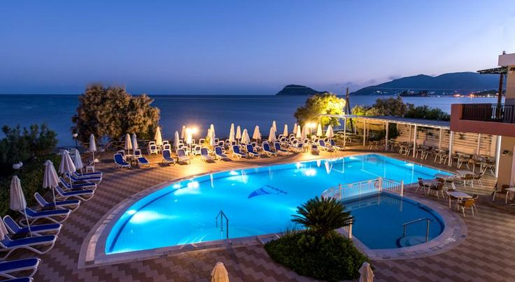 Mediterainian Beach Resort. Zakynthos £480 6 nights half board 21st - 27th Sept Overlooking the clear blue waters and over 5 km of golden sandy beach, the Mediterranean Beach Resort lies on the bay of Laganas.