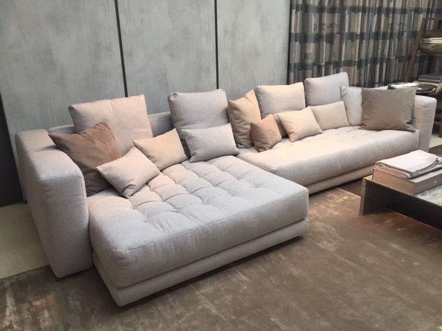 Fresh  Sofa Doze Comfort System von Flou in Stoff Grau wohnzimmer livingroom