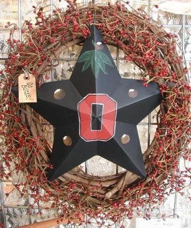 Ohio State Door Wreaths   OSU Buckeyes Wreath, Ohio State door hanger on Wanelo
