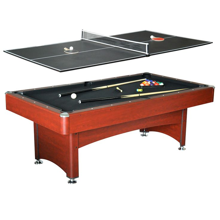 Hathaway Bristol Dark Cherry/ MDF 7-foot Pool Table with Table Tennis Top