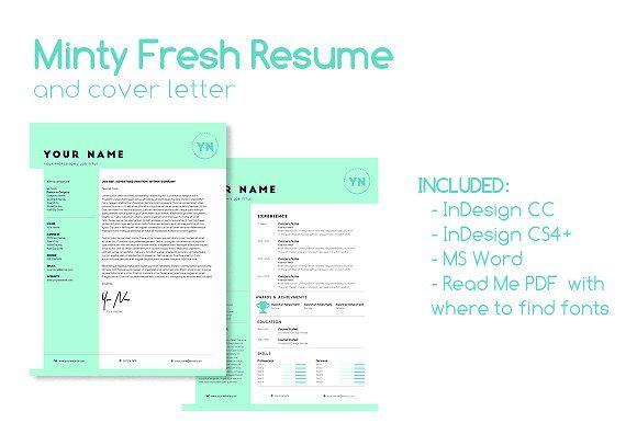 Minty Fresh Resume   @creativework247