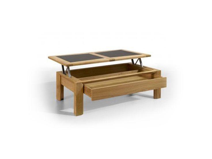 Table De Salon Parme Avec Plateau Bois Et C Ramique Meubles Bois Massif Meuble Pinterest