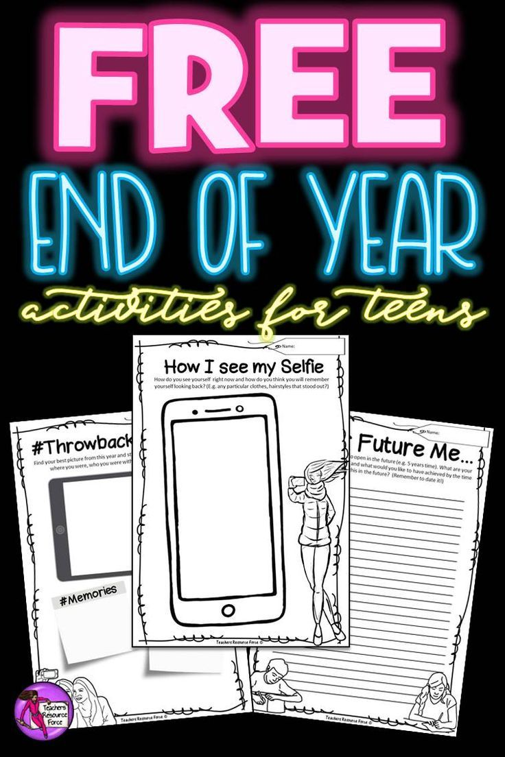 "It's important to end the school year right. Be the teacher who helps their students develop personally by encouraging them to self-reflect and strive to be the best they can be! You can get this pack of 3 different end of the year reflection activities for teens for free right now by clicking the ""visit"" button!"