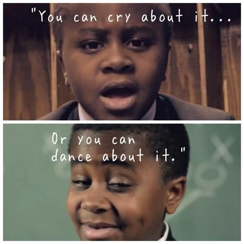 If you haven't already seen kid president on YouTube, then I highly recommend that you watch him, he's such a sweetie and he'll make you smile whether you want to or not