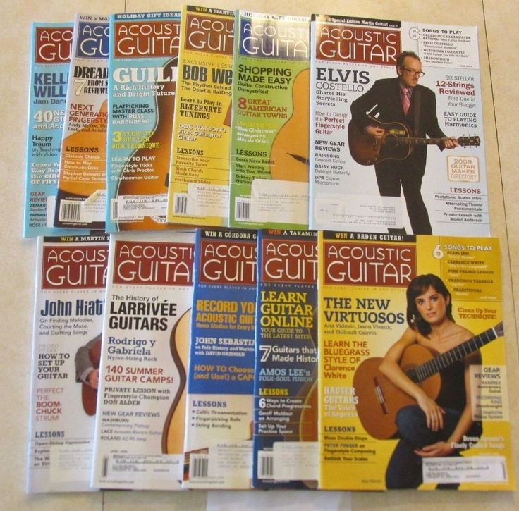 2008 Acoustic Guitar Magazine 11 Issue Lot