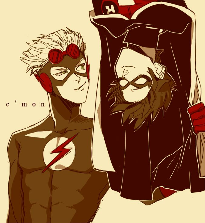 Kid Flash and Robin or Wally West and Dick Grayson if you prefer. Best dudes forever <3 Only other ones on par are James Potter and Sirius Black.