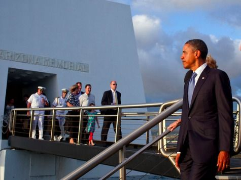 Obama Honors Pearl Harbor Dead with Picture of Himself