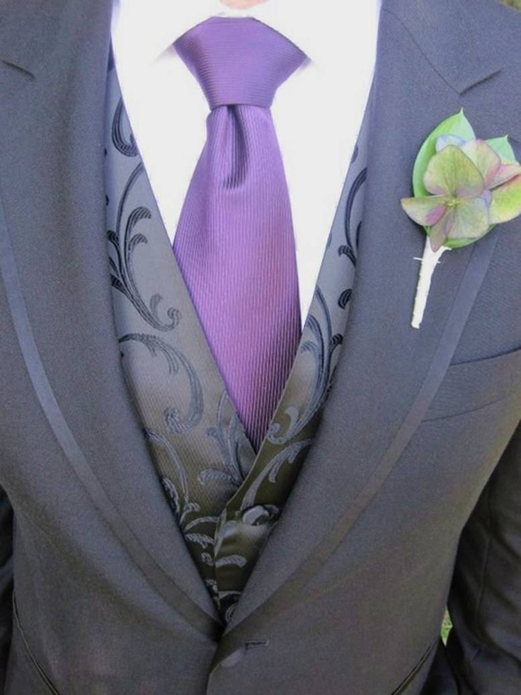 25 Best Ideas About Wedding Tuxedo Purple On Pinterest