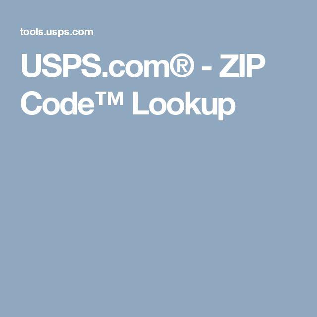 USPS.com® - ZIP Code™ Lookup