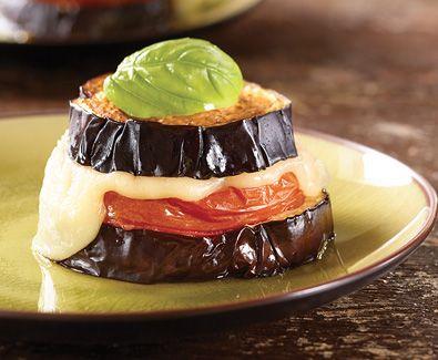 Baked Eggplant Caprese with Tre Stelle Mozzarella #entree #recipe