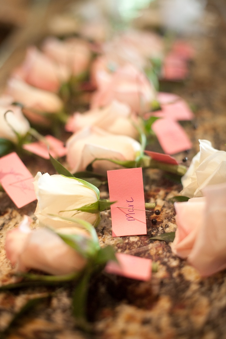 Soft Pink Wedding Boutonnieres by Blume Events www.idoaz.com