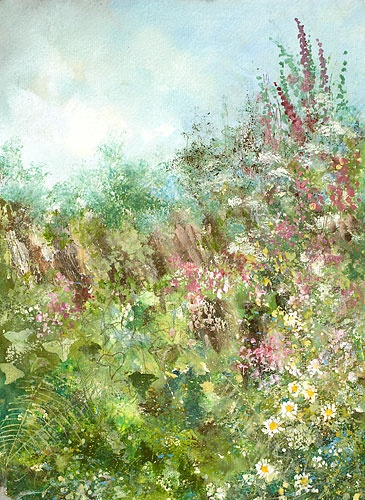 a cornish hedge by Amanda hoskin