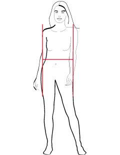 H-shape Schouders en heupen zijn gelijk Benen zijn vaak slank Soms een buikje  Gemiddeld tot grote borsten  Iets plattere billen  Gemiddeld tot lang
