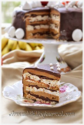 Торт безе кофе и шоколад