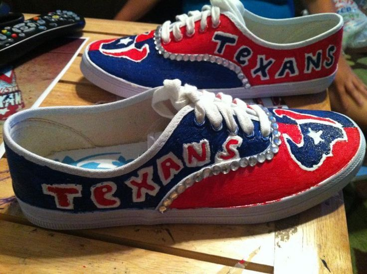 NFL-Licensed Houston Texans Women's Canvas Sneakers WITH BLING ...