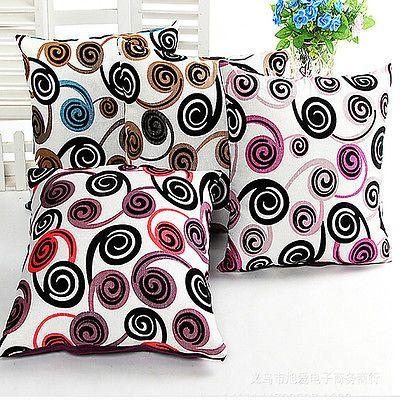 Back Cushion Cover Pillow Case Snail Flocking Sofa Car Chair Decoration Square