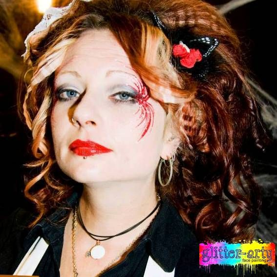Burlesque arty make-up / face art for adults by Glitter-Arty Face Painting, Bedford, Bedfordshire