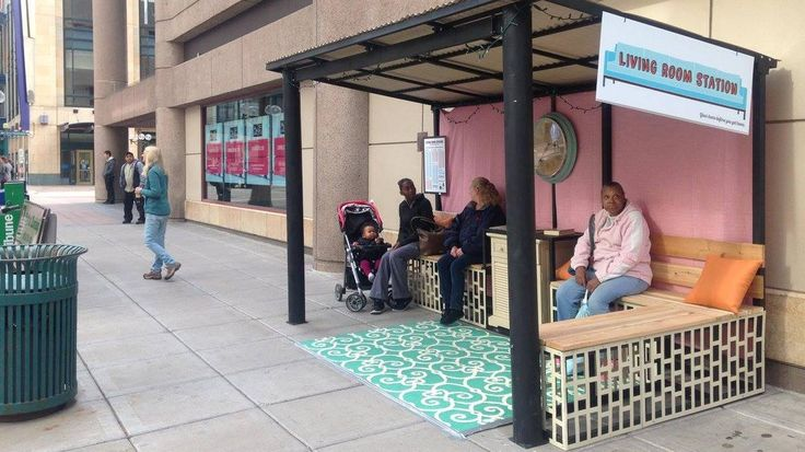 A bus shelter in Minneapolis has been transformed into living room on the street! Activities run throughout the day at this decked-out shelter, including pumpkin carving, tea, and board games. Waiting for the bus just got a whole lot better!