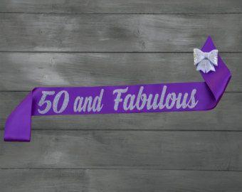 Cumpleaños marco 50 y fabuloso 50.o cumpleaños por GlamourSash