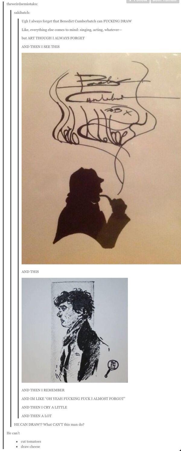And pronounce penguins   Benedict cumberbatch. Sherlock fandom. Benedict