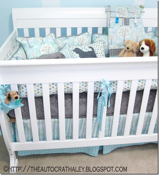The Autocrat Puppies In The Park Crib Set Baby Boy