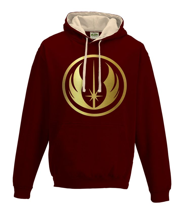 Star Wars Inspired Jedi Knight Brown and Cream with Gold Logo Hoodie by LoveGlitzShop on Etsy