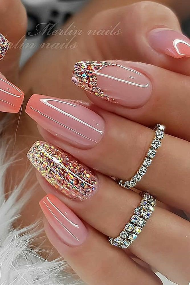 Discovered By Georgia B Find Images And Videos On We Heart It The App To Get Lost In What Y Pretty Nail Art Designs Nail Designs Glitter Classy Nail Designs