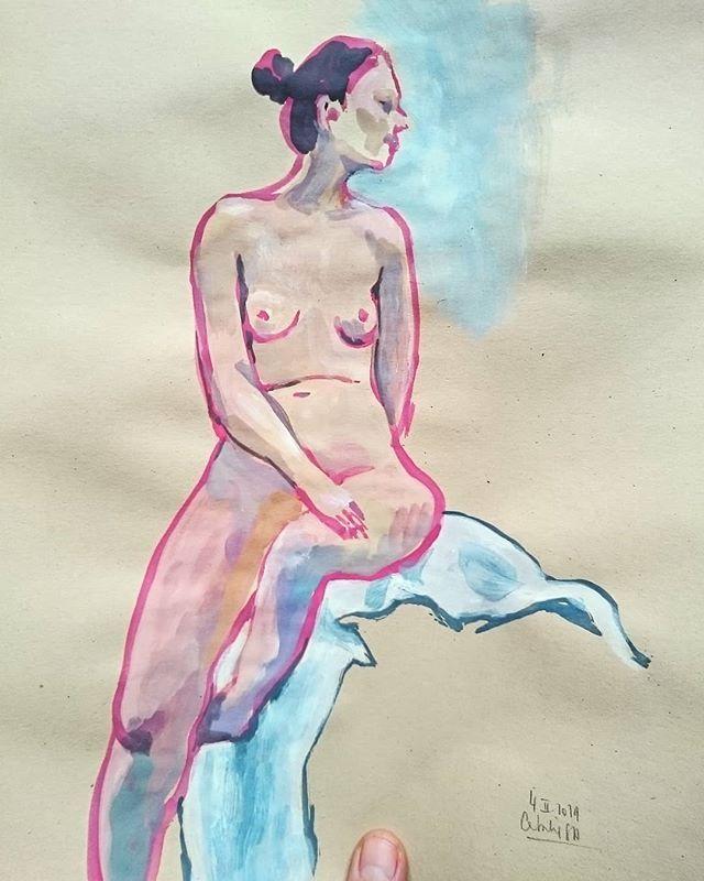 Letzten Dienstag war ich wieder mit Elisa Kuzio zum Zeichnen im Leben, es war schön …
