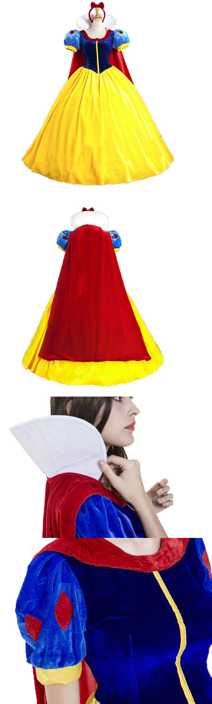 Women 53369: Halloween Cosplay Fancy Dress Princess Snow White Costume For Adult W Petticoat -> BUY IT NOW ONLY: $39 on eBay!