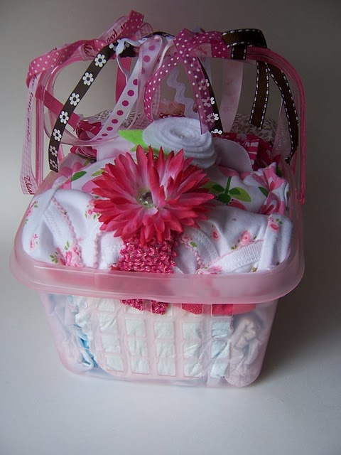 girl baby shower gift idea and also you could use this for inspiration for a boy's gift!