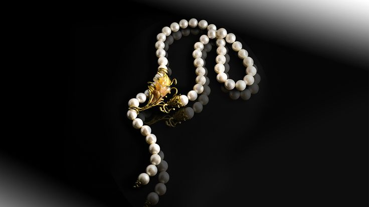 Collana in Oro e Perle - ORAFO A ROMA CREAZIONI UNICHE ED ORIGINALI