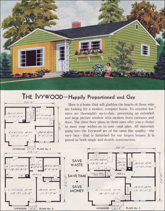 17 best images about 1930 1965 minimal traditional on for Small traditional home plans