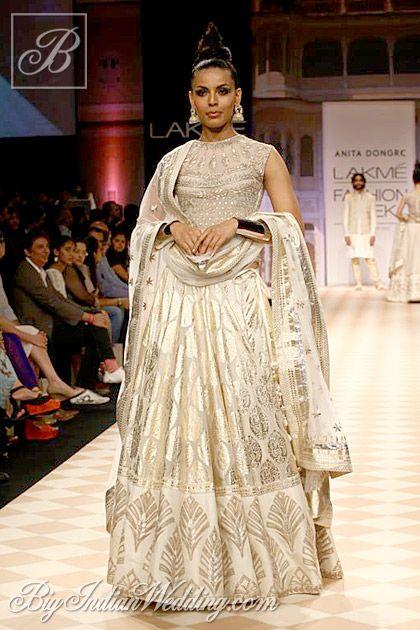 Anita Dongre white and silver ornate lehenga find similar lace designs @ www.lacxo.com