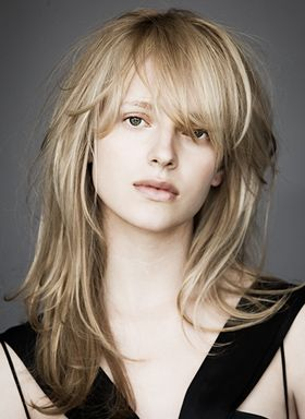 """long layers, from B&b.; soft , modern texture, """"lived in"""" bangs."""