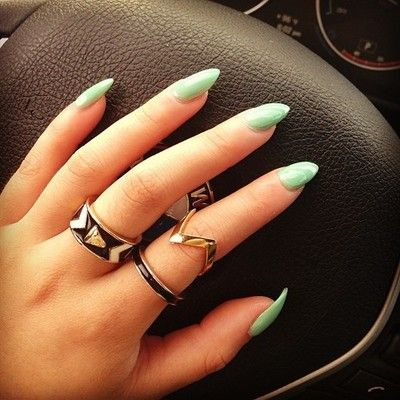 White matte acrylic nails tumblr
