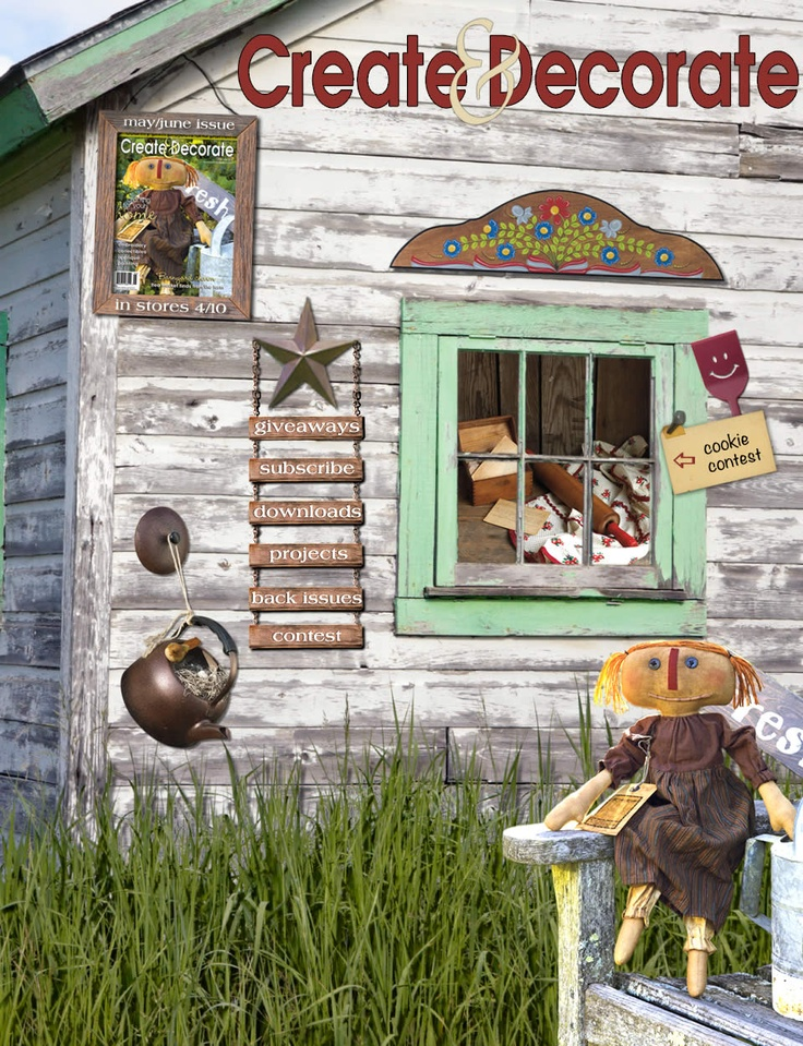 11 best images about primitive magazines on pinterest for Country craft house