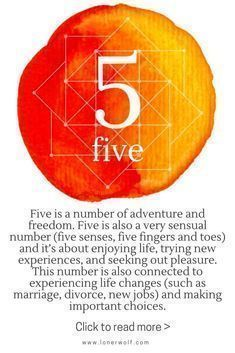 Numerology Number 5 How To Learn Numerology Numerology