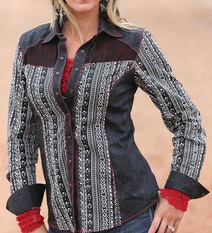CRUEL GIRL ARENA FIT RODEO Western Barrel AZTEC Print Snaps SHIRT COWGIRL NWT XS #CruelGirl #Western
