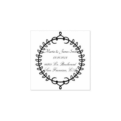 Wedding Rubber Stamps - calligraphy gifts custom personalize diy create your own