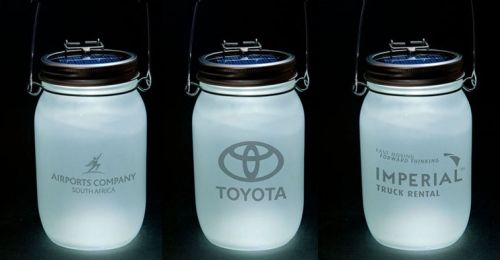 Corporate gifts - branded Consol Solar Jars