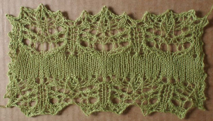 melancholy: a free lace knitting stitch pattern, thanks to my supporters on Patreon