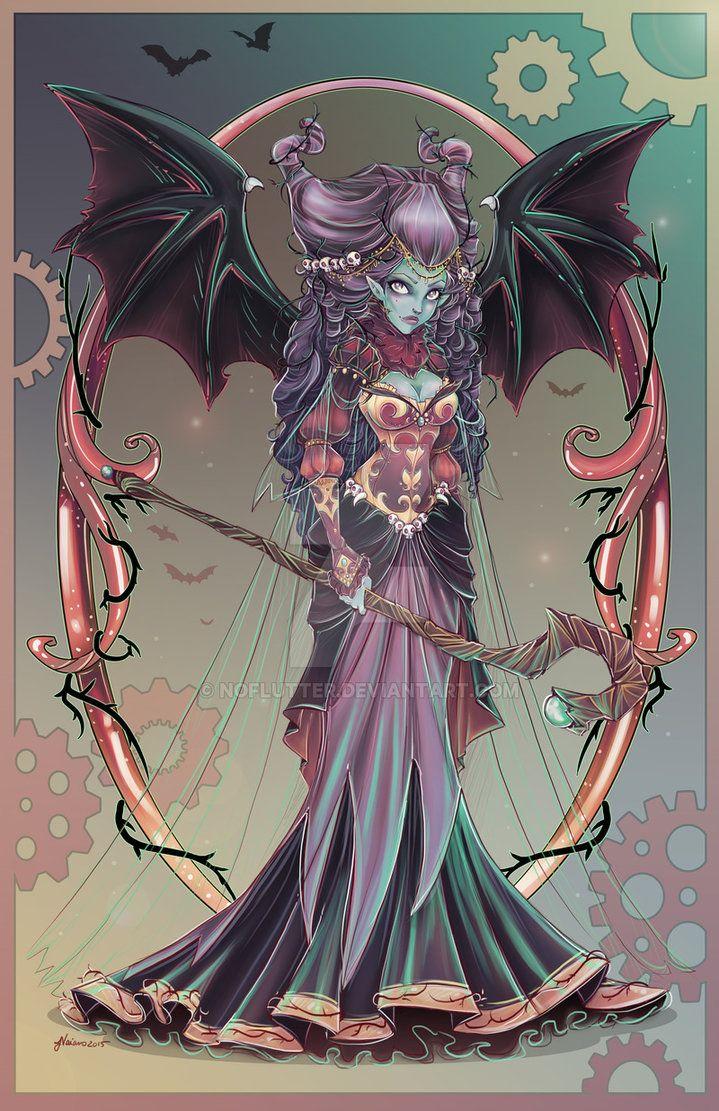 Anime dark fairy girl