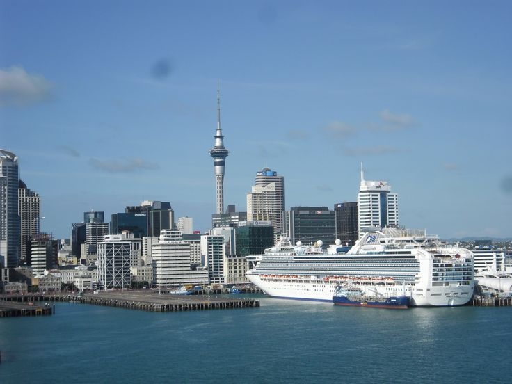 Auckland, New Zealand.  The Diamond Princess in Auckland Harbour - just gorgeous.
