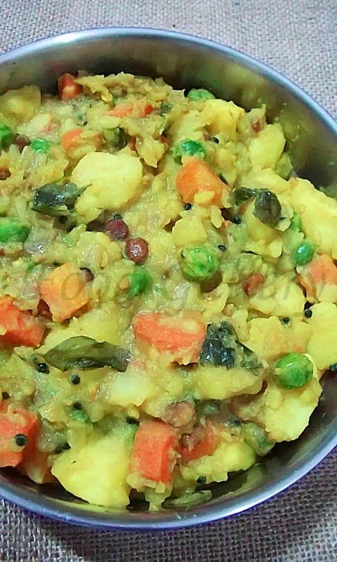 Potato masala for dosa, Dosa masala - A simple flavorful curry used as a filling inside the masala dosa.   Recipe:  http://indianrecipegalleri.blogspot.in/2014/01/potato-masala-for-dosa-and-poori-potato.html  #masalafordosa #potatomasala #masaladosa #dosamasala #potatocurry #sidedishfordosa
