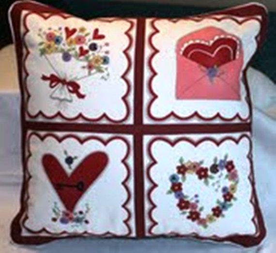 Cushions Covers  Valentines Be my Valentine by SewflairUK on Etsy, £9.50