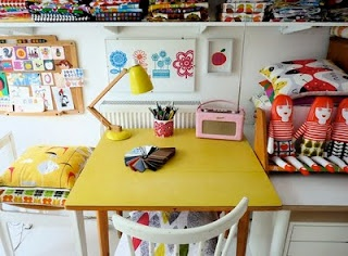 My yellow formica table