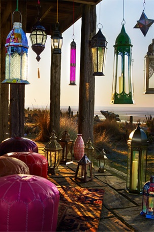 New favourite place...HomeSense: Lamps, Idea, Style, Color, Patio, House, Outdoor Gardens, Hanging Lanterns, Moroccan Lanterns