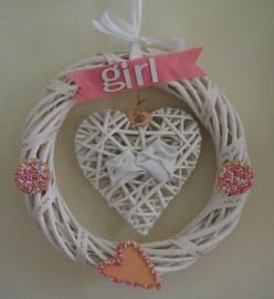 Geboortekrans meisje www.blijekiddies.nl