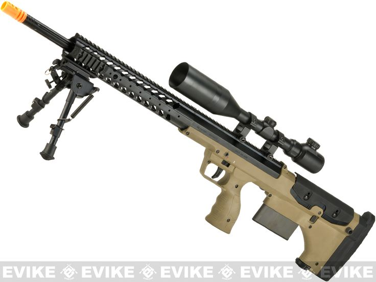 SO. MUCH. WANT!  Pre-Order ETA July 2016 Desert Tech SRS-A1 26 Spring Powered Bullpup Airsoft Sniper Rifle by Silverback Airsoft - Flat Dark Earth