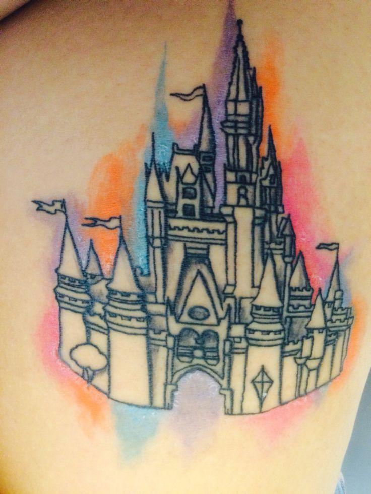 disney castle tattoo t a t t o o s pinterest disney castle tattoo castle tattoo and tattoo. Black Bedroom Furniture Sets. Home Design Ideas